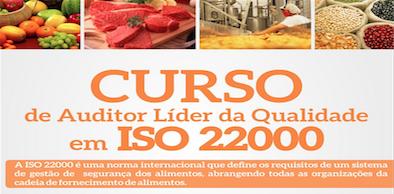 Curso de Auditor Líder da Qualidade em ISO 22000