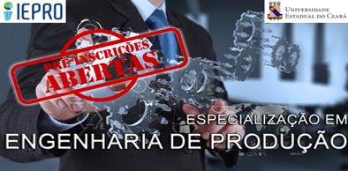 Curso de Especialização em Engenharia de Produção com ênfase em Otimização de Processos Industriais