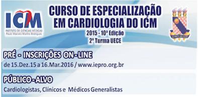 Matrículas Abertas: Curso de Especialização em Cardiologia do ICM 2016