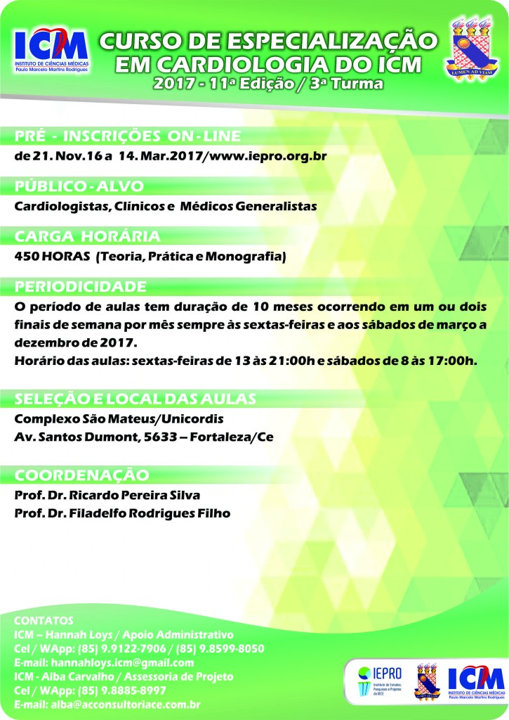 Cartaz Curso Cardiologia 2017