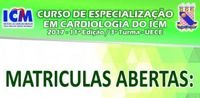 Curso de Especialização em Cardiologia do ICM 2017 11a Edição - 3ª Turma UECE
