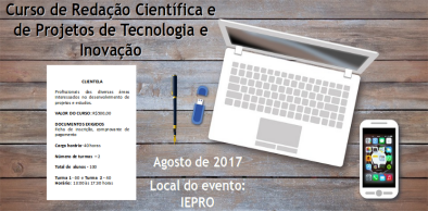 Curso de Redação Científica e de Projetos de Tecnologia e Inovação
